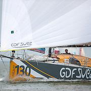 Sébastien Rogues sur GDF SUEZ / Class 40 N°130