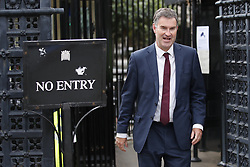 © Licensed to London News Pictures. 02/09/2019. London, UK. Conservative MP and former Minister David Gauke walks from Parliament.  Parliament returns tomorrow with MPs expected to attempt to legislate against the goverment's Brexit plans. Photo credit: Peter Macdiarmid/LNP