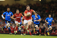 George North  of Wales © runs in and  scores his teams 5th try.  RBS Six Nations championship 2016, Wales v Italy at the Principality Stadium in Cardiff, South Wales on Saturday 19th March 2016. pic by  Andrew Orchard, Andrew Orchard sports photography.
