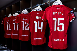 General views of the Bristol City Women changing room prior to kick off - Mandatory by-line: Ryan Hiscott/JMP - 17/02/2020 - FOOTBALL - Stoke Gifford Stadium - Bristol, England - Bristol City Women v Everton Women - Women's FA Cup fifth round