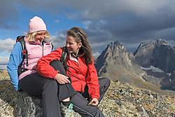 Family exploring Tombstone Territorial Park, Yukon