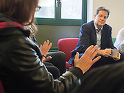 © Licensed to London News Pictures. 19/11/2014. London, UK Nick Clegg, the Deputy Prime Minster meets with staff and patients at the Chaucer Resource Centre in Bermondesy today 19th November 2014.  He listened to them share their experiences of a range of mental health treatment. Providing an opportunity to listen to people's experiences first hand, and discuss Government initiatives to improve mental health services, such as waiting times and talking therapies.. Photo credit : Stephen Simpson/LNP