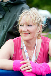 """Aileen finishes """"Race for life"""" 2011 Calendar Park Falkirk 17 May 2011.Image © Paul David Drabble"""