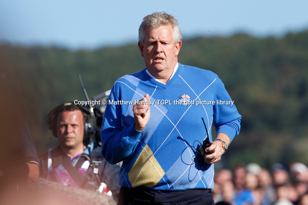Captain Colin MONTGOMERIE (EUR) Session Four_Singles during Ryder Cup 2010,Celtic Manor,Newport,Wales.