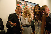 CLAUDIA SCHIFFER: MARIO TESTINO; NAOMI CAMPBELL.  Mario Testino: Obsessed by You -  private view<br />