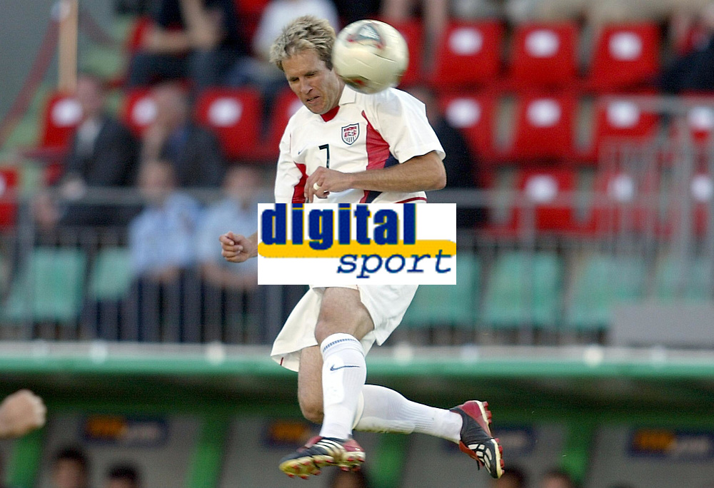 FOTBALL - CONFEDERATIONS CUP 2003 - GROUP B - TYRKIA v USA - 030619 - EDDIE LEWIS (USA) - PHOTO STEPHANE MANTEY / DIGITALSPORT