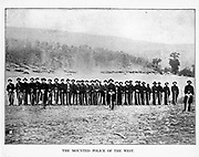 cavalry of the Army of the Ohio Company D, Fourth Kentucky Volunteers, enlisted at Louisville, December, 1861. from the book ' The Civil war through the camera ' hundreds of vivid photographs actually taken in Civil war times, sixteen reproductions in color of famous war paintings. The new text history by Henry W. Elson. A. complete illustrated history of the Civil war