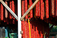 Paprika chillies drying in sheds - Kalocsa Hungary