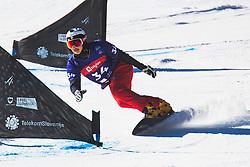 Sangho Lee (KOR) during parallel slalom FIS Snowboard Alpine World Championships 2021 on March 2nd 2021 on Rogla, Slovenia. Photo by Grega Valancic / Sportida