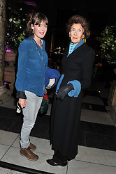 Left to right, CONSTANCE WYNDHAM and her grandmother PAMELA, LADY EGREMONT at a private view of Photographs by Cecil Beaton celebrating the diamond jubilee of HM The Queen Elizabeth 11 at the Victoria & Albert Museum, Cromwell Road, London on 6th February 2012.