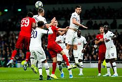 Toby Alderweireld of Tottenham Hotspur is challenged by Kingsley Coman of Bayern Munich - Rogan/JMP - 01/10/2019 - FOOTBALL - Tottenham Hotspur Stadium - London, England - Tottenham Hotspur v Bayern Munich - UEFA Champions League Group B.