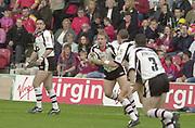 Brentford, Middlesex, 13th May 2002 Rugby League,  London Broncos v Widnes, Griffen Park<br /> [Mandatory Credit: Peter Spurrier/Intersport Images],<br /> Brentford, Middlesex, 13th May 2002 Rugby League,  London Broncos v Widnes, Griffen Park<br /> [Mandatory Credit: Peter Spurrier/Intersport Images],<br /> Rugby LeagueSport - Rugby League<br /> London Broncos vs Widnes Vikings