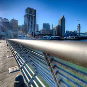 Pier 14 along the Embarcadero in downtown San Francisco, CA.