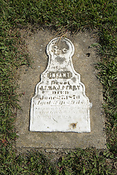 23 September 2017: Infant Perry.  West Union Cemetery is located on the north side of Illinois Rt 9 between Danvers and Mackinaw.  It is located within McLean County