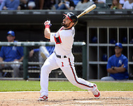 CHICAGO - JUNE 12:  Adam Eaton #1 of the Chicago White Sox bats against the Kansas City Royals on June 12, 2016 at U.S. Cellular Field in Chicago, Illinois.  The Royals defeated the White Sox 3-1.  (Photo by Ron Vesely)    Subject:  Adam Eaton