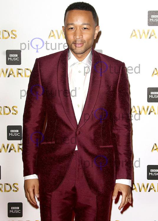 John Legend, BBC Music Awards 2016, Excel Centre, London UK, 12 December 2016, Photo by Brett D. Cove