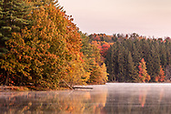 Autumn view at Highland Lake on the Middletown Reservoir Trails in Town of Wallkill, N.Y., on Oct. 18, 2020.