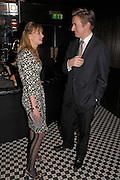 Clemmie Hambro and George Bridges. Conservative fund raising dinner hosted  by Marco Pierre White and Franki Dettori at  Frankie's. Knightsbridge. 17 January 2004. ONE TIME USE ONLY - DO NOT ARCHIVE  © Copyright Photograph by Dafydd Jones 66 Stockwell Park Rd. London SW9 0DA Tel 020 7733 0108 www.dafjones.com