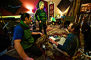 """The """"Exposure"""" session with the band Squid City at the Tank Studio on Monday night Janaury 30, 2012 in Burlington, Vermont."""