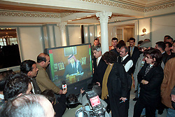 New Crown Prince Abdallah (or Abdullah) announces to the world the death of his father King Hussein in a TV message from the Royal palace in Amman, Jordan on February 7, 1999. Twenty years ago, end of January and early February 1999, the Kingdom of Jordan witnessed a change of power as the late King Hussein came back from the United States of America to change his Crown Prince, only two weeks before he passed away. Photo by Balkis Press/ABACAPRESS.COM