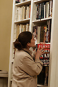 St Petersburg, Russia, 10/02/2004..Readers and staff in the Prince George Galitzine Memorial Library, founded in October 1994 to make available books about Russia in English and Russian which were previously banned.