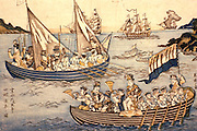 CHICAGO, ART INSTITUTE Japanese print; Russians in Nagasaki