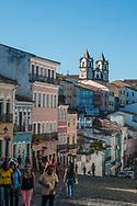 The Largo do Pelourinho stands the church of Carmo, is a typical image of Salvador de Bahia
