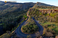 Rowena Curves on Historic Highway 30 in Rowena, Oregon, USA