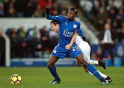 """Leicester City's Onyinye Ndidi (front) and Burnley's Jack Cork during the Premier League match at the King Power Stadium, Leicester. PRESS ASSOCIATION Photo Picture date: Saturday December 2, 2017. See PA story SOCCER Leicester. Photo credit should read: Mike Egerton/PA Wire. RESTRICTIONS: EDITORIAL USE ONLY No use with unauthorised audio, video, data, fixture lists, club/league logos or """"live"""" services. Online in-match use limited to 75 images, no video emulation. No use in betting, games or single club/league/player publications."""