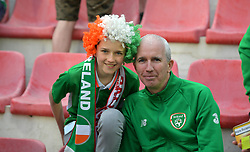 Republic of Ireland fans in the stands show their support during the UEFA Euro 2020 Qualifying, Group D match at the Victoria Stadium, Gibraltar.