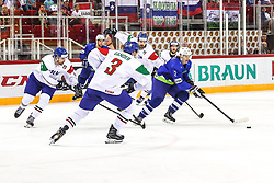 Jan Drozg of Slovenia during Ice Hockey match between National Teams of Italy and Slovenia in Round #5 of 2018 IIHF Ice Hockey World Championship Division I Group A, on April 28, 2018 in Arena Laszla Pappa, Budapest, Hungary. Photo by David Balogh / Sportida