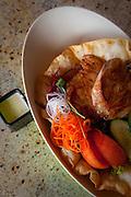 Fish salad, Sam Choy's Kai Lanai, Keauhou,  Kailua-Kona, Island of Hawaii