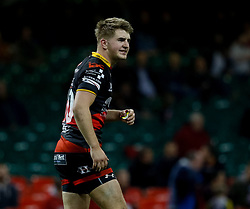 Dragons' Arwel Robson<br /> <br /> Photographer Simon King/Replay Images<br /> <br /> Guinness PRO14 Round 21 - Dragons v Scarlets - Saturday 28th April 2018 - Principality Stadium - Cardiff<br /> <br /> World Copyright © Replay Images . All rights reserved. info@replayimages.co.uk - http://replayimages.co.uk