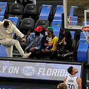 ORLANDO, FL - FEBRUARY 19:  Orlando Magic fans celebrate a three point shot against the Golden State Warriors during the second half at Amway Center on February 19, 2021 in Orlando, Florida. NOTE TO USER: User expressly acknowledges and agrees that, by downloading and or using this photograph, User is consenting to the terms and conditions of the Getty Images License Agreement. (Photo by Alex Menendez/Getty Images)*** Local Caption ***