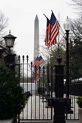 A view of the Washington Memorial obelisk in Washington DC in the United States. From a series of travel photos in the United States. Photo date: Thursday, March 29, 2018. Photo credit should read: Richard Gray/EMPICS