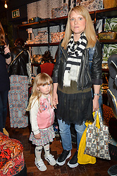 AMY HEMMINGS of Coco & Wolf and her daughter COCO at the launch of the House of Hackney La Coqueta childrens' fashion collectection held at House of Hackney, 131 Shoreditch High Street, London on 23rd April 2016.