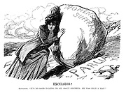 "Excelsior! Suffragist. ""It's no good talking to me about Sisyphus; He was only a man!"""