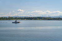 Lummi Island Ferry, Mount Baker in the distance, Washington