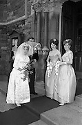 """19/09/1963<br /> 09/19/1963<br /> 19 September 1963<br /> Wedding of Colm A. O'Rahilly, A.C.A., """"Collin"""", Newtownpark Avenue, Blackrock, Dublin and Miss Mary Corcoran, 29 Prussia Street, North Circular Road, Dublin at the Church of the Holy Family, Aughrim Street, Stoneybatter, Dublin."""