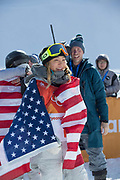 Chloe Kim, USA, wins the womens halfpipe final at the Pyeongchang Winter Olympics on 13th February 2018 at Phoenix Snow Park in South Korea