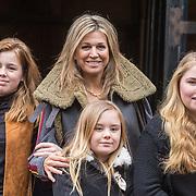 NLD/Amsterdam/20180203 - 80ste Verjaardag Pr. Beatrix, Koningin Maxima met dochters Prinses Amalia en Prinses Ariane