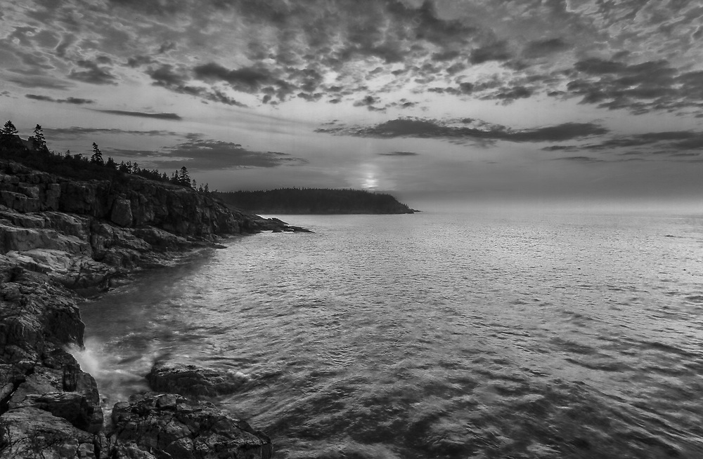 B&W New England seascape photography of the iconic Maine Acadia National Park shoreline. This national park is located on Mount Desert Island.<br /> <br /> This New England Bblack and white fine art photography image is available as museum quality photography prints, canvas prints, acrylic prints or metal prints. Fine art prints may be framed and matted to the individual liking and decorating needs:<br /> <br /> https://juergen-roth.pixels.com/featured/maine-is-gorgeous-juergen-roth.html<br /> <br /> Good light and happy photo making!<br /> <br /> My best,<br /> <br /> Juergen<br /> Prints: http://www.rothgalleries.com<br /> Photo Blog: http://whereintheworldisjuergen.blogspot.com<br /> Instagram: https://www.instagram.com/rothgalleries<br /> Twitter: https://twitter.com/naturefineart<br /> Facebook: https://www.facebook.com/naturefineart