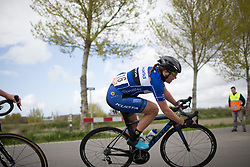Winanda Spoor (NED) of Lensworld Zannata Cycling Team leans into a sharp corner during the Omloop van Borsele - a 107.1 km road race, starting and finishing in s'-Heerenhoek on April 22, 2017, in Borsele, the Netherlands.
