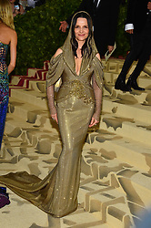 Juliette Binoche attending the Costume Institute Benefit at The Metropolitan Museum of Art celebrating the opening of Heavenly Bodies: Fashion and the Catholic Imagination. The Metropolitan Museum of Art, New York City, New York, May 7, 2018. Photo by Lionel Hahn/ABACAPRESS.COM