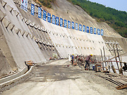 Nam Ou Cascade Hydropower Project Dam 6, Phongsaly Province, Lao PDR.  In the Nam Ou river valley the first phase of construction on the Nam Ou Cascade Hydropower Project by Chinese corporation Sinohydro has begun, the project will generate electricity, 90% of which will be exported to other countries in the region.  The project will directly affect several districts in Phongsaly province through construction, reservoir impoundment and back flooding resulting in loss of land and assets and village relocation.  The 425 km long Nam Ou river is a major tributary of the Mekong and is the lifeline of rural communities and local economies.