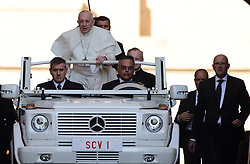 October 10,  2018  - Vatican City - POPE FRANCIS during his weekly General Audience in St. Peter's Square at the Vatican. (Credit Image: © Evandro Inetti/ZUMA Wire)