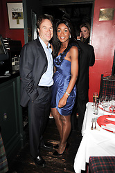 PHOEBE VELA and JOHN HITCHCOX at the Johnnie Walker Blue Label Great Scot Award 2010 in association with The Spectator and Boisdale held at Boisdale of Belgravia, 22 Ecclestone Street, London SW1 on 24th February 2010.