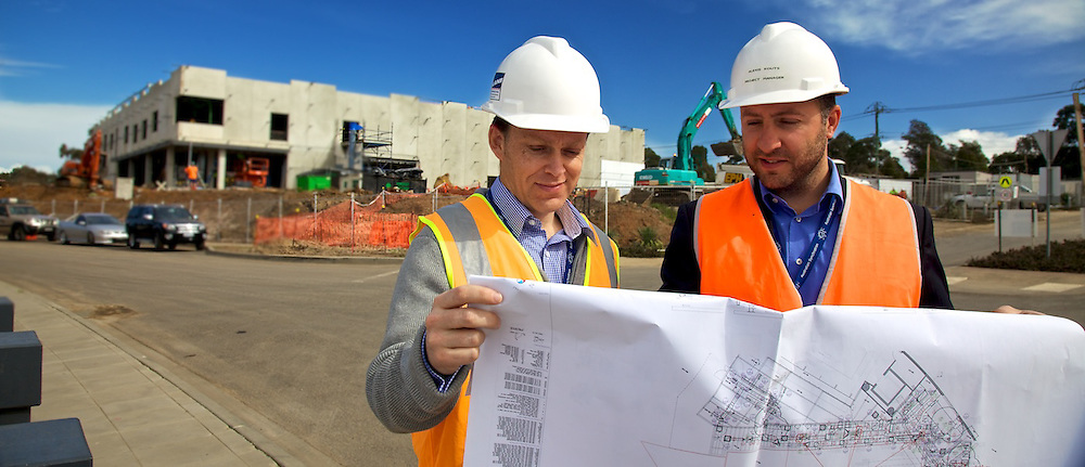 Australian Synchrotron.   Alexis Kouts, Acting Head of Major Projects and Technical Services, and Project Manager, Richard Feltscheer, Australian Synchrotron.