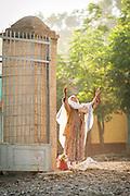 Ethiopian Woman outside Axum Church, Axum, Ethiopia, Horn of Africa