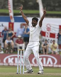 November 6, 2018 - Galle, Sri Lanka - Sri Lankan cricketer Dilruwan Perera appeals during the  1st day's play  of the first test cricket match between Sri Lanka and England at Galle International cricket stadium, Galle, Sri Lanka on November 6, 2018. (Credit Image: © Tharaka Basnayaka/NurPhoto via ZUMA Press)